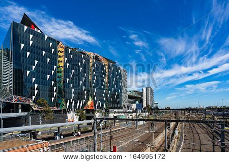 Railway Tracks And Nab Village At Docklands