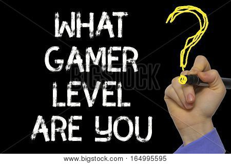 Hand Writing The Text: What Gamer Level Are You