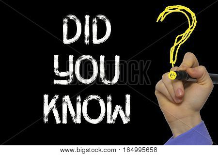 Hand Writing The Text: Did You Know