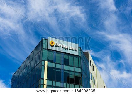 Bendigo Bank Branch Building On 120 Harbour Esplanade, Docklands, Melbourne.