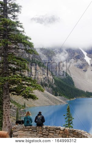 Lake Louise, Canada - September 4, 2016: Moraine Lake Is Located