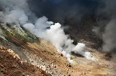 Active volcanic crater poster