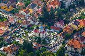 Aerial view of the Old Town Brasov Transylvania Romania poster