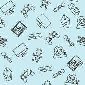 Cybersport pattern. Gamepad set. Vector illustration EPS 10 poster