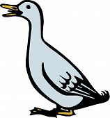 Scalable vectorial image representing a goose bird poster