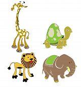 safari animals poster