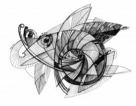 Abstract Drawing  - Fly