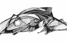 Structure Abstract Drawing - Grasshopper