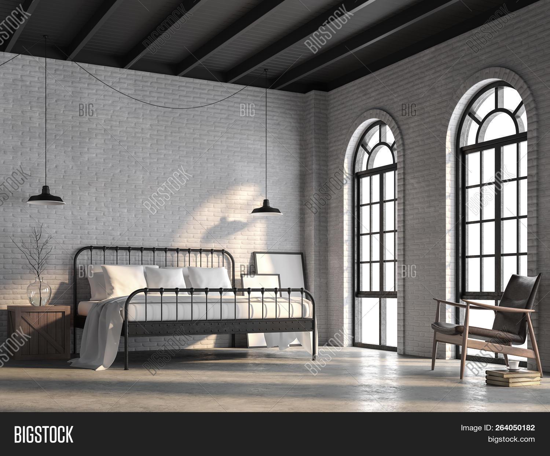 Loft Bedroom Render Image Photo