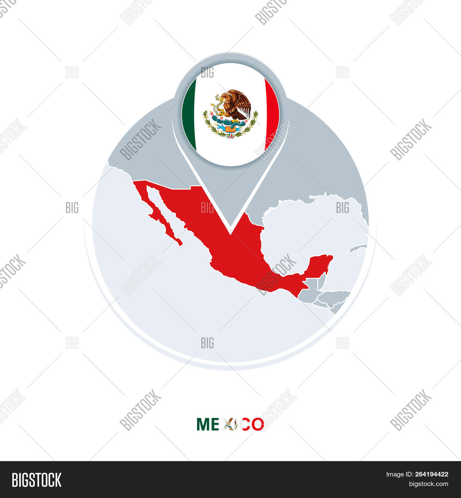 Mexico Map Flag Vector Photo Free Trial Bigstock