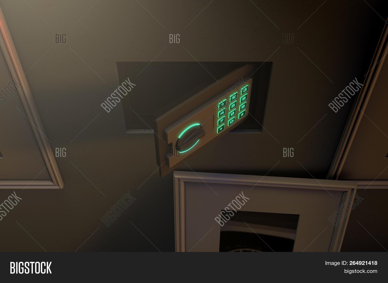 Open Hidden Wall Safe Image Photo Free Trial Bigstock