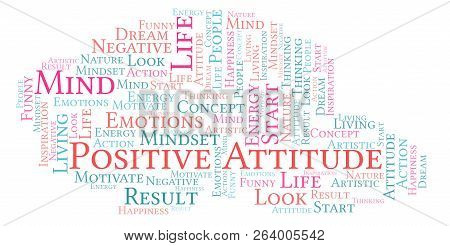 Positive Attitude Word Cloud, Made With Text Only