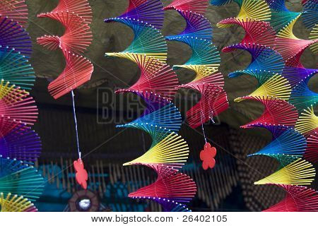 Colorful, Spiral Hangings
