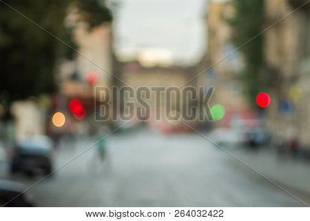 Soft Twilight. Blurry Cityscape. Gentle Defocused Cityscape