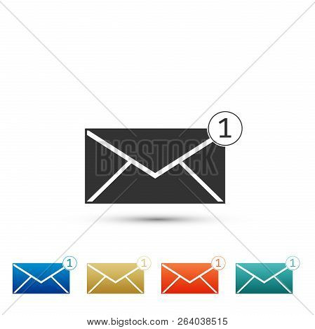 Envelope Icon Isolated On White Background. Received Message Concept. New, Email Incoming Message, S