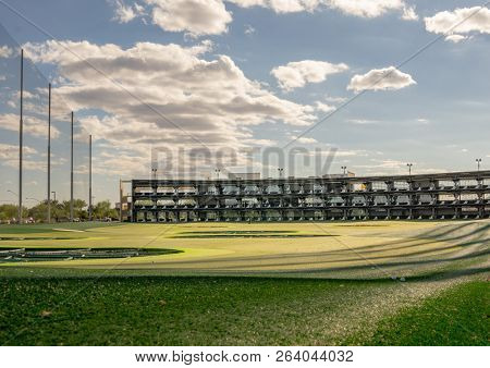 Gilbert,Az/USA -10.17.18   Topgolf, Gilbert, Az. a global sports entertainment community headquartered in Dallas, Tx with locations throughout the North America, Australia, UAE, and the UK.