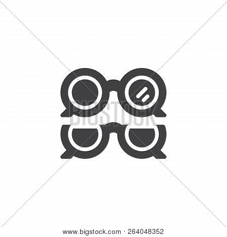 Optical Eye Glasses Vector Icon. Filled Flat Sign For Mobile Concept And Web Design. Ophthalmology O