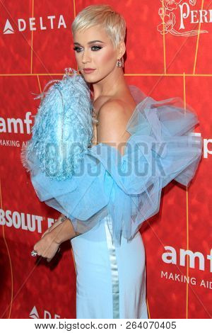 LOS ANGELES - OCT 18:  Katy Perry at the 2018 amfAR Inspiration Gala at the Wallis Annenberg Center for the Performing Arts on October 18, 2018 in Beverly Hills, CA