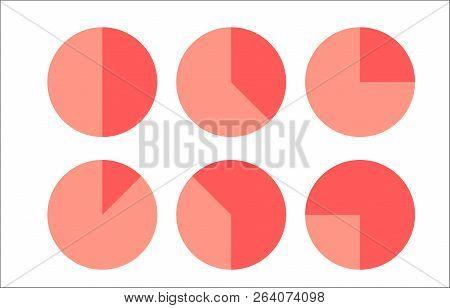 Graph Circle Set Illustration Round Vector Diagrams
