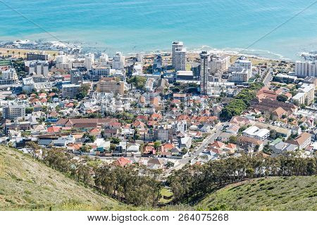 Cape Town, South Africa, August 9, 2018: Sea Point In Cape Town In The Western Cape Province As Seen