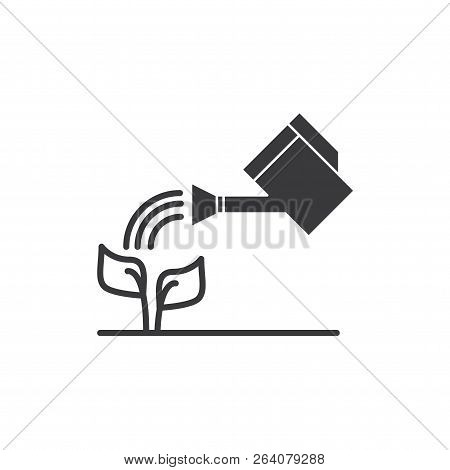 Watering Plant Vector Icon On White Background. Watering Plant Icon In Modern Design Style. Watering