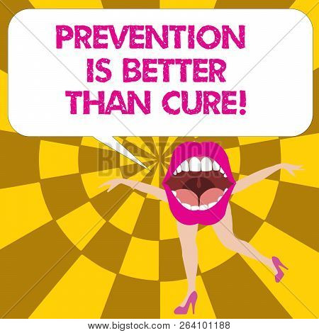 Conceptual Hand Writing Showing Prevention Is Better Than Cure. Business Photo Text Disease Is Preve