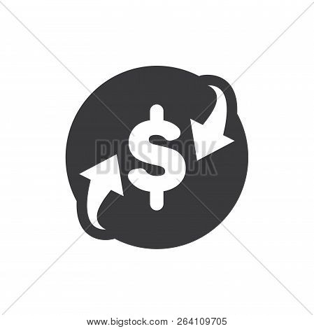 Dollar Exchange Vector Icon On White Background. Dollar Exchange Icon In Modern Design Style. Dollar