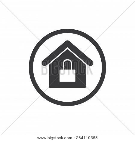 Home Security Vector Icon On White Background. Home Security Icon In Modern Design Style. Home Secur