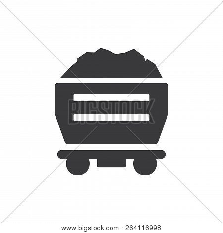 Mine Cart Vector Icon On White Background. Mine Cart Icon In Modern Design Style. Mine Cart Vector I