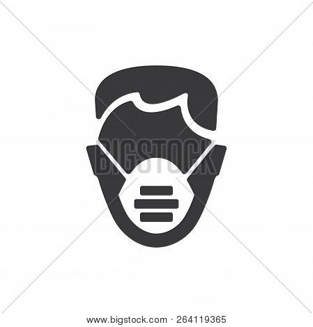 Medical Mask Vector Icon On White Background. Medical Mask Icon In Modern Design Style. Medical Mask