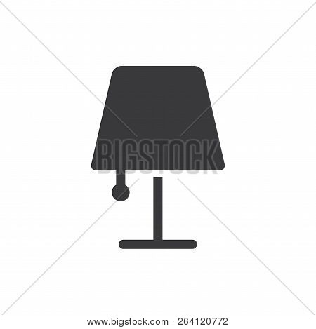 Lamp Vector Icon On White Background. Lamp Icon In Modern Design Style. Lamp Vector Icon Popular And