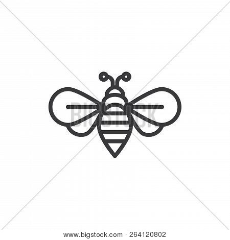 Bee Vector Icon On White Background. Bee Icon In Modern Design Style. Bee Vector Icon Popular And Si