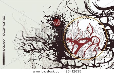 vector floral design,abstract concept,card,invitation,flyer,just add you text,scalable change the color as you wish