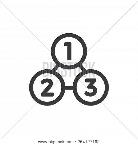 Analysis Process Vector Icon On White Background. Analysis Process Icon In Modern Design Style. Anal