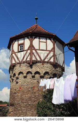 The historic old town Möckmühl Baden-Wuerttemberg, Germany
