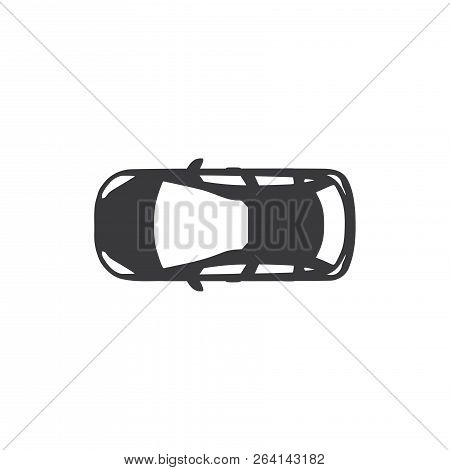 Car Top Vector Icon On White Background. Car Top Icon In Modern Design Style. Car Top Vector Icon Po