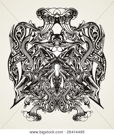 abstract modern vector design for t-shirts