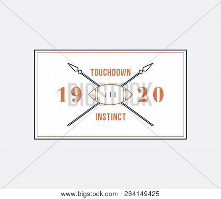 American Football Touchdown Instinct Is A Vector Illustration About Sport