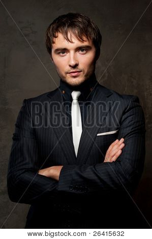 Handsome young man in suit.