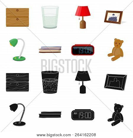 Isolated Object Of Dreams And Night Logo. Set Of Dreams And Bedroom Stock Symbol For Web.