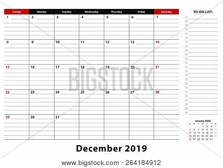 December 2019 Monthly Vector Photo Free Trial Bigstock