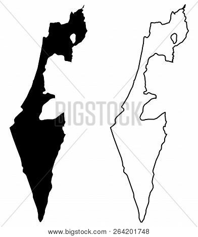 Simple (only Sharp Corners) Map - State Of Israel (without Palestine; Excluding Gaza Strip And West