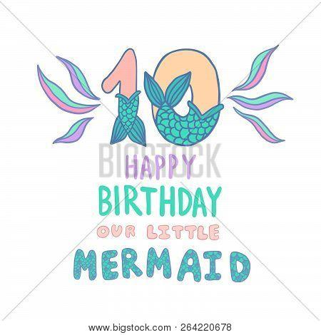 Number Ten Mermaid Vector Photo Free Trial Bigstock