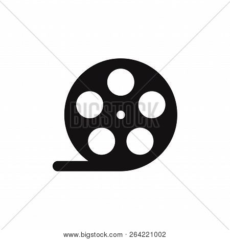 Film Reel Icon Isolated On White Background. Film Reel Icon In Trendy Design Style. Film Reel Vector