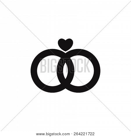 Marriage Rings Icon Isolated On White Background. Marriage Rings Icon In Trendy Design Style. Marria