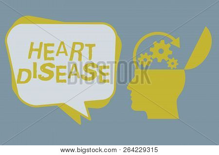 Handwriting Text Heart Disease. Concept Meaning Heart Disorder Conditions That Involve Blocked Blood