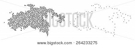 Dotted And Frame Map Of Saint John Island Formed With Dots. Vector Gray Abstraction Of Map Of Saint