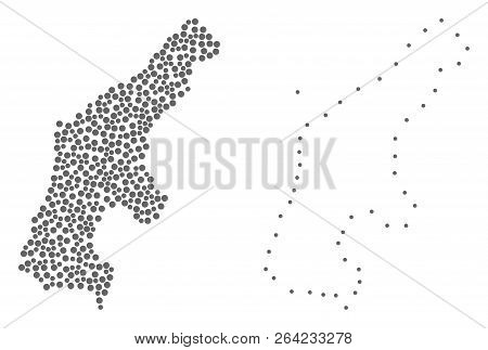 Dotted Frame Map Vector & Photo (Free Trial) | Bigstock