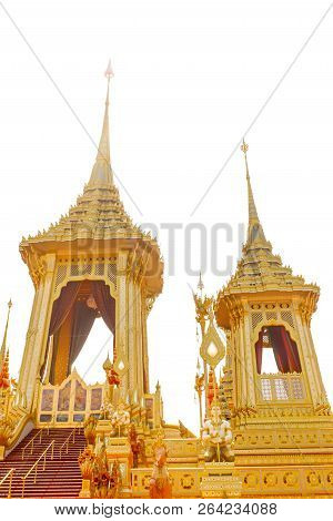 Bangkok, Thailand - November 04, 2017; Some Part In Royal Crematorium For The King Bhumibol Adulyade