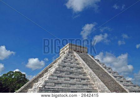 Ancient Mayan Pyramid In The Yucatan